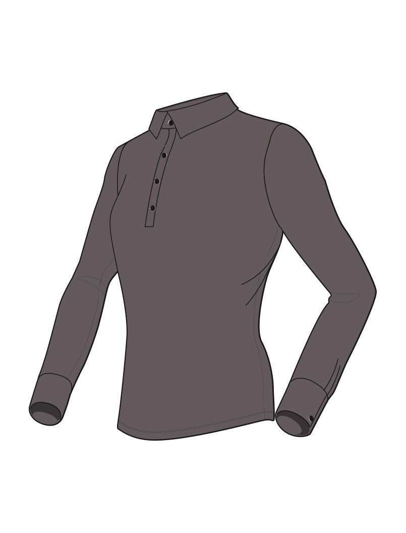 Le polo lady anthracite